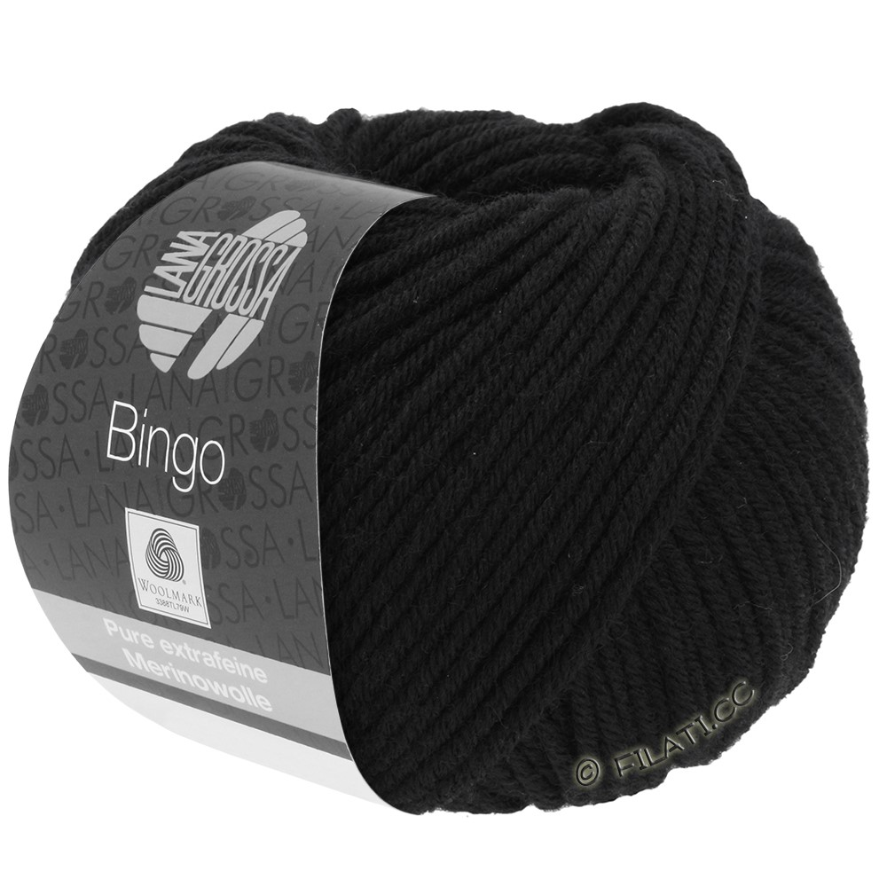 Lana Grossa BINGO  Uni/Melange/Print | 024-black
