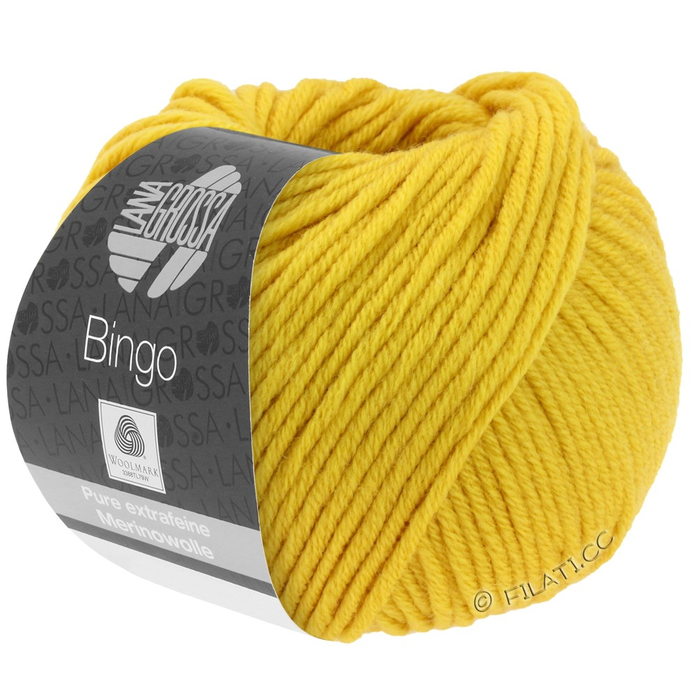 Lana Grossa BINGO  Uni/Melange/Print | 154-saffron yellow