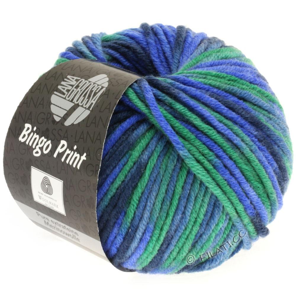 Lana Grossa BINGO  Uni/Melange/Print | 353-blue/emerald/navy/gray blue