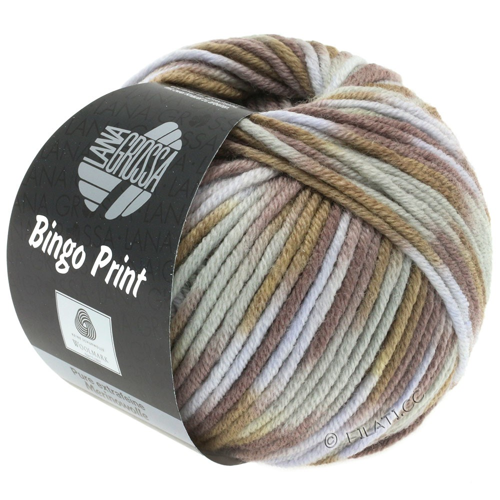 Lana Grossa BINGO  Uni/Melange/Print | 365-light blue/tulipwood/ochre