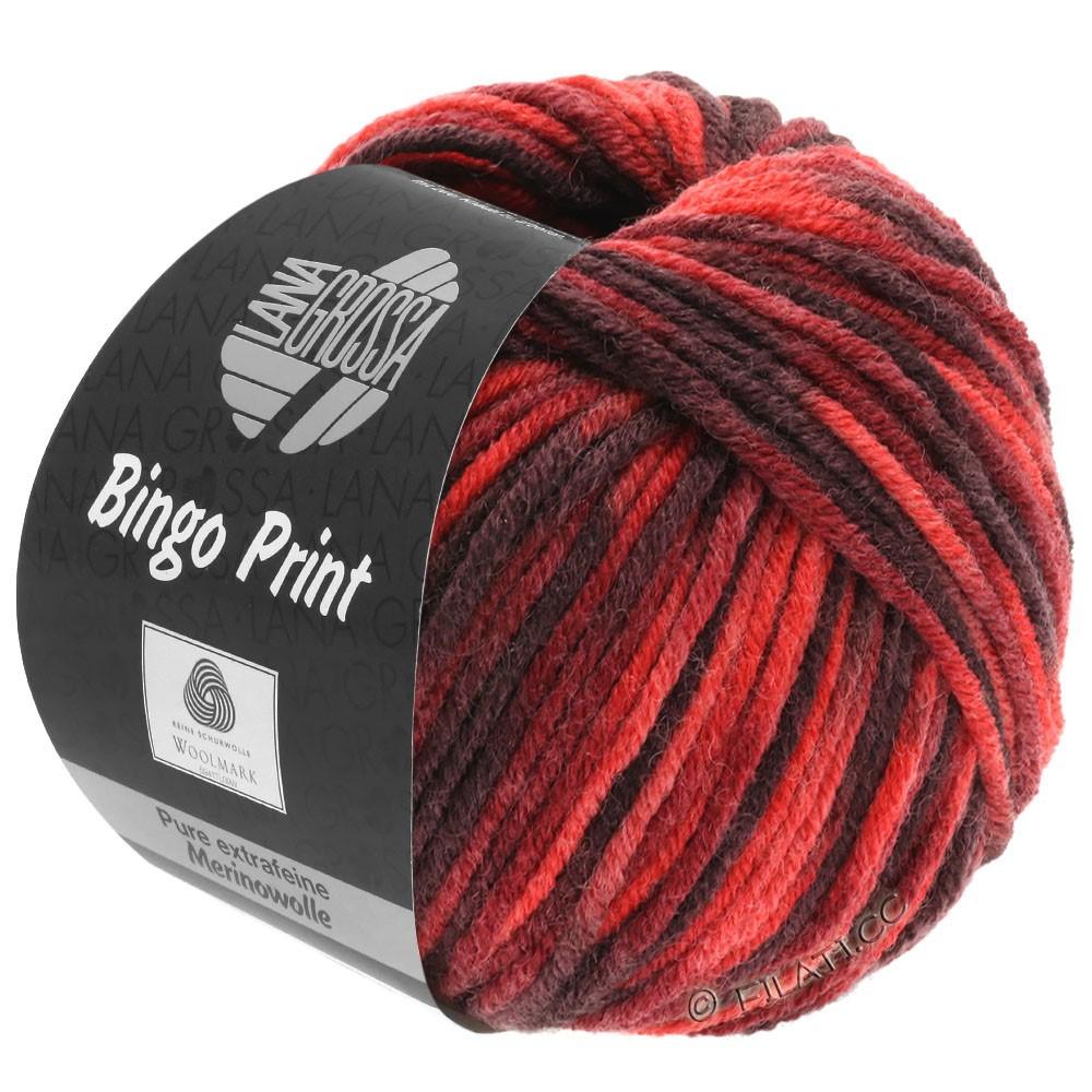 Lana Grossa BINGO  Uni/Melange/Print | 366-red/wine red/burgundy