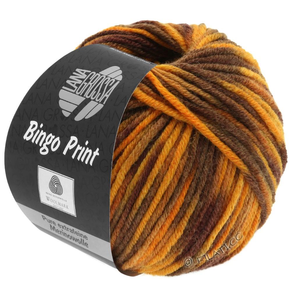 Lana Grossa BINGO  Uni/Melange/Print | 369-amber/caramel/chestnut/dark brown