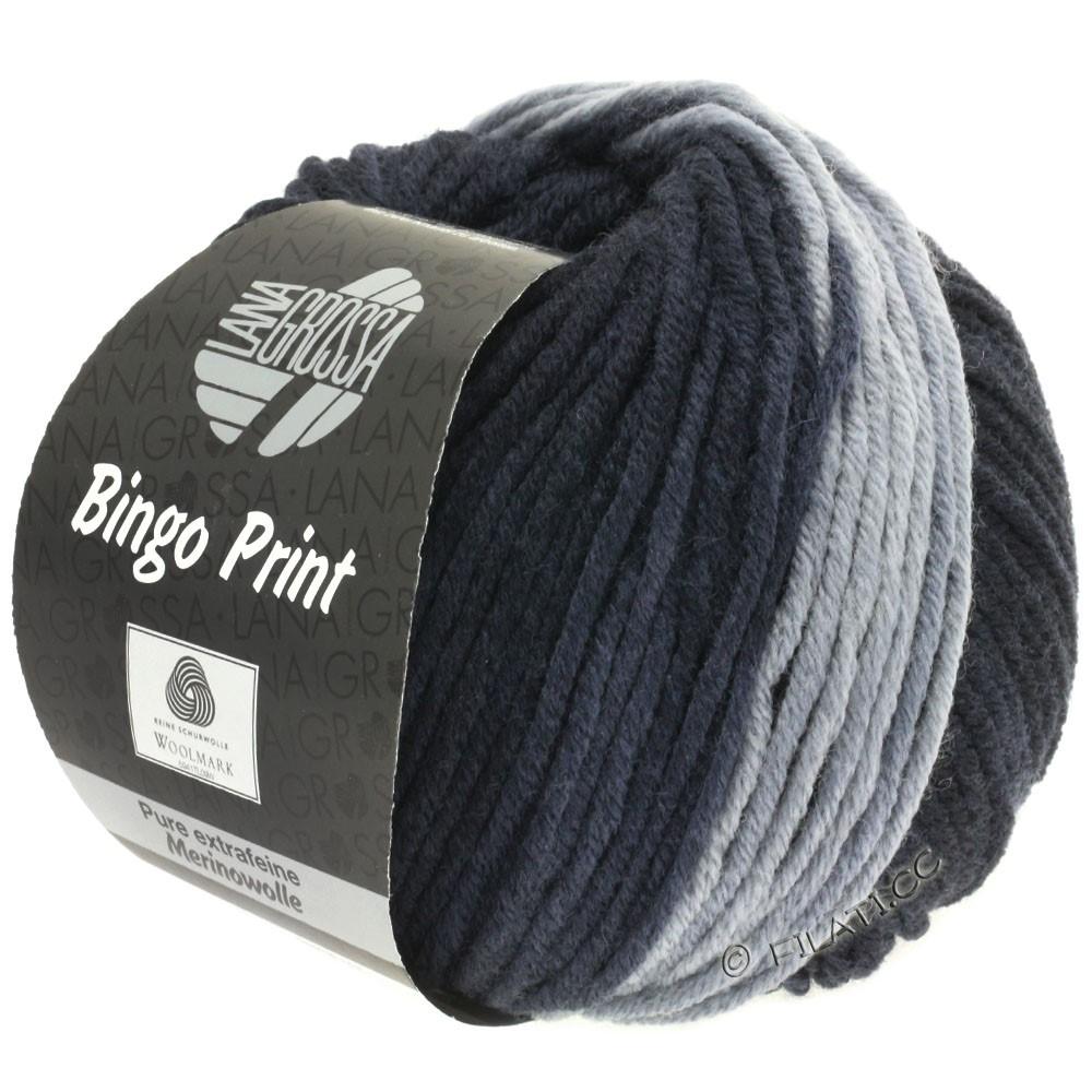 Lana Grossa BINGO  Uni/Melange/Print | 605-light grey/steel gray