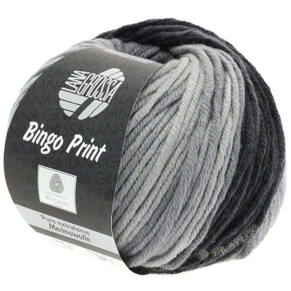 Lana Grossa BINGO  Uni/Melange/Print | 608-medium gray/dark gray/anthracite