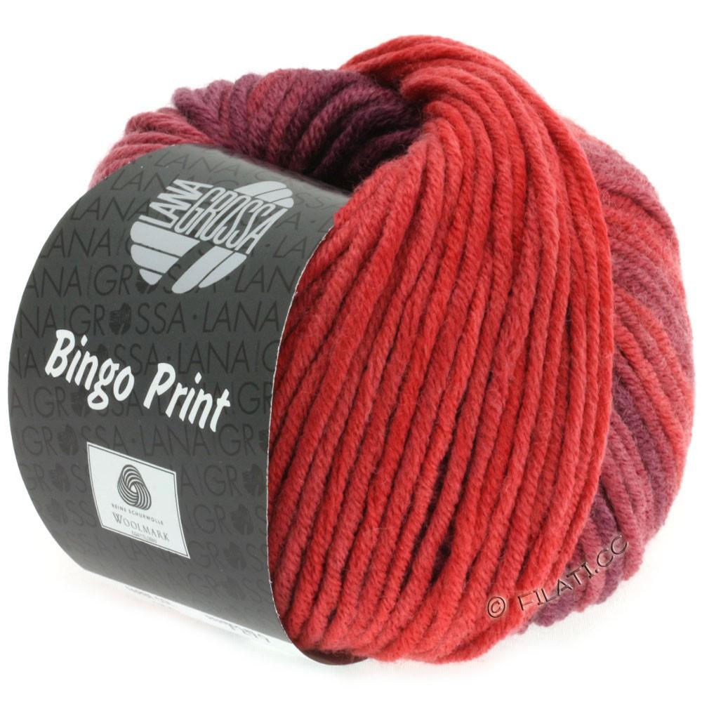 Lana Grossa BINGO  Uni/Melange/Print | 613-brick red/burgundy/tomato red
