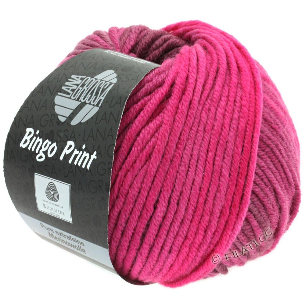 Lana Grossa BINGO  Uni/Melange/Print | 618-pink/burgundy/elder