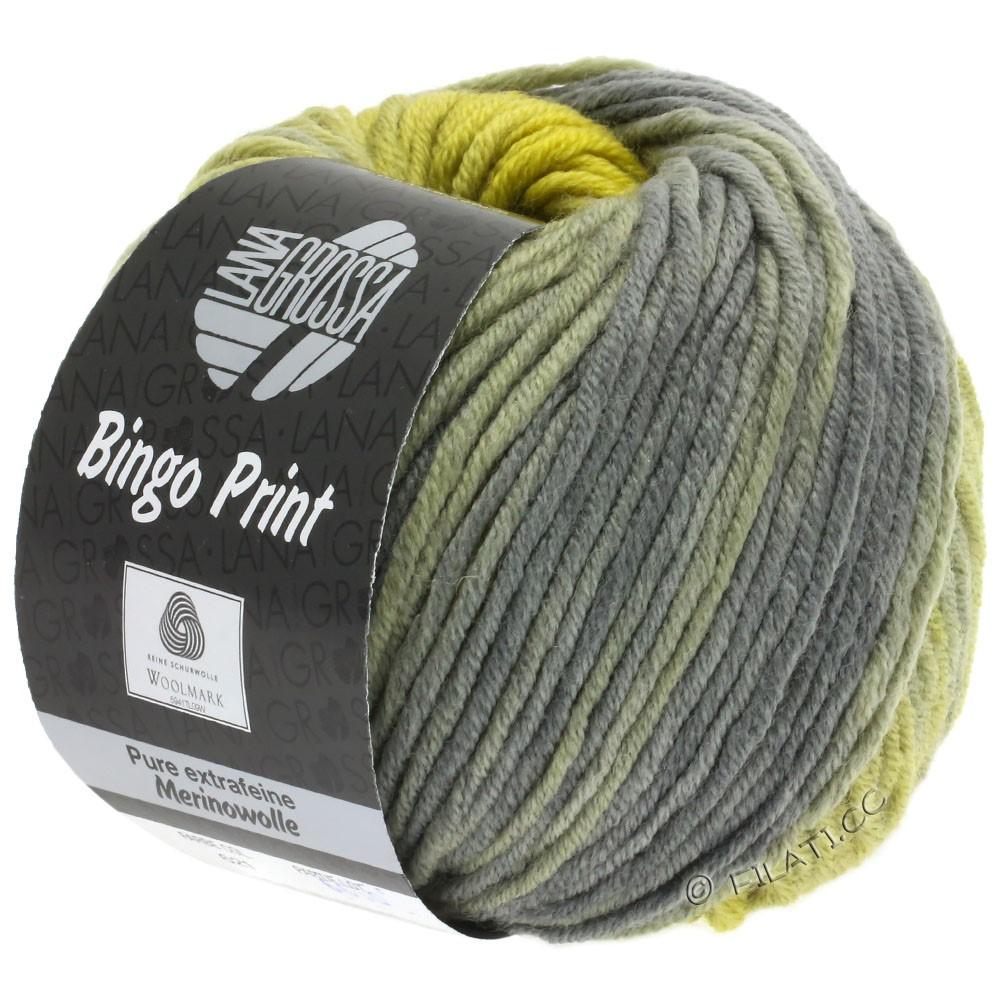 Lana Grossa BINGO  Uni/Melange/Print | 621-mustard/dark gray/reed