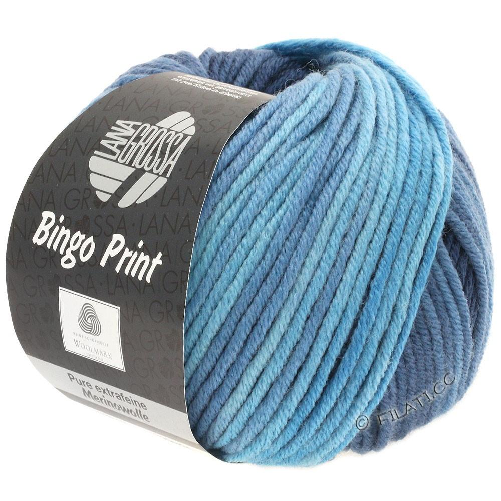 Lana Grossa BINGO  Uni/Melange/Print | 626-light blue/gray blue/nightblue