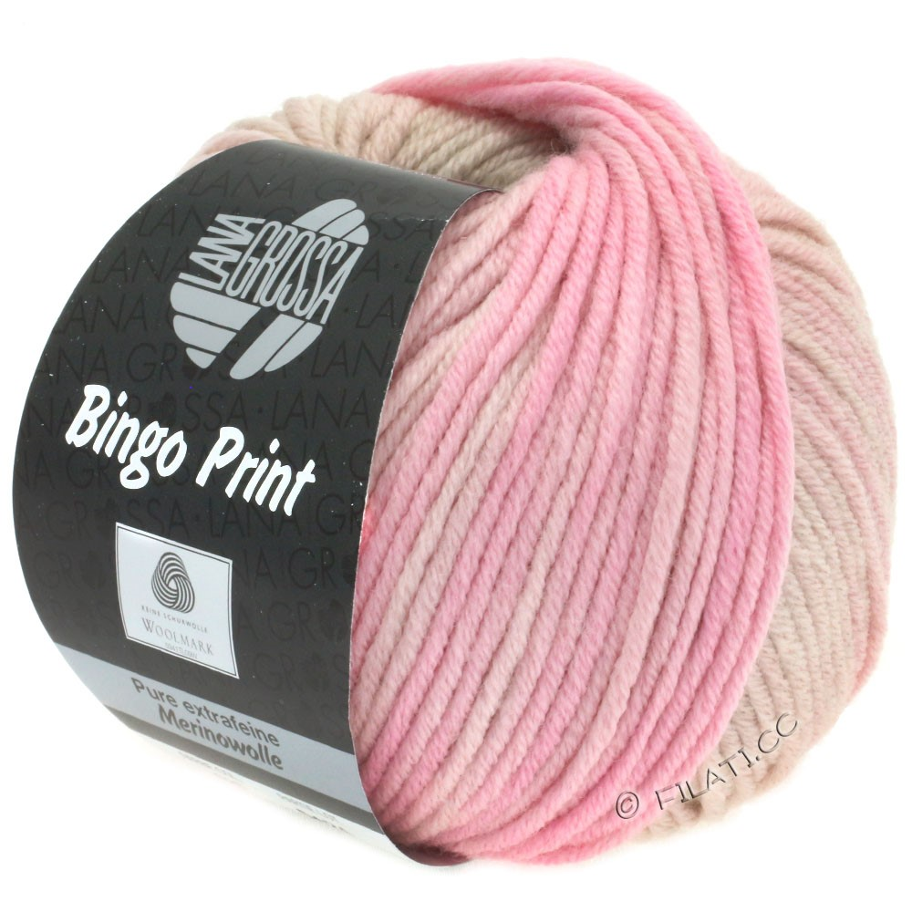 Lana Grossa BINGO  Uni/Melange/Print | 628-light beige/powder/pale pink
