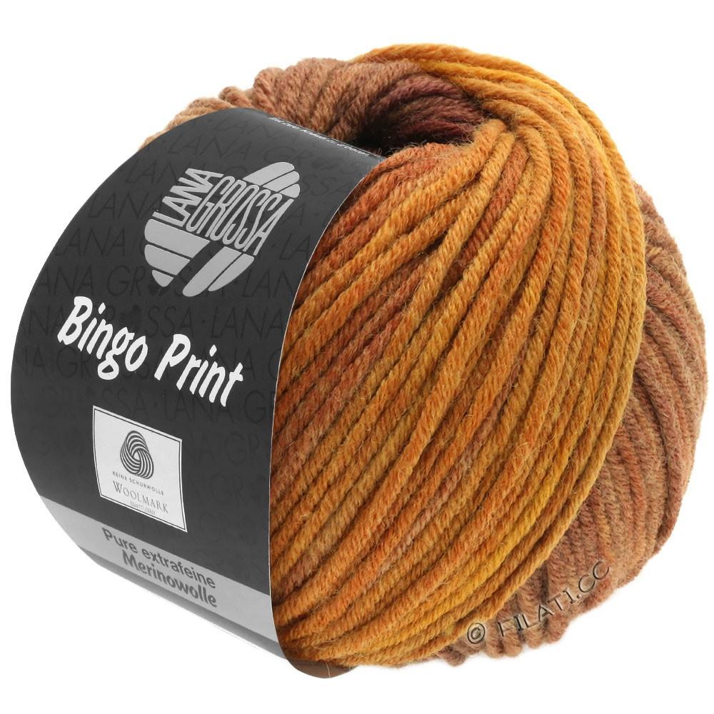 Lana Grossa BINGO  Uni/Melange/Print | 631-amber/copper/chestnut