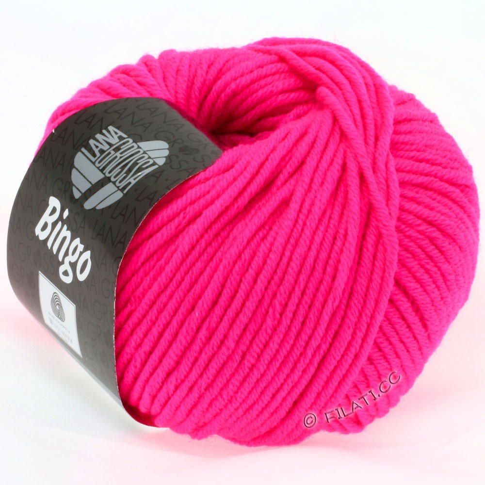 Lana Grossa BINGO  Uni/Melange/Print | 706-neon pink