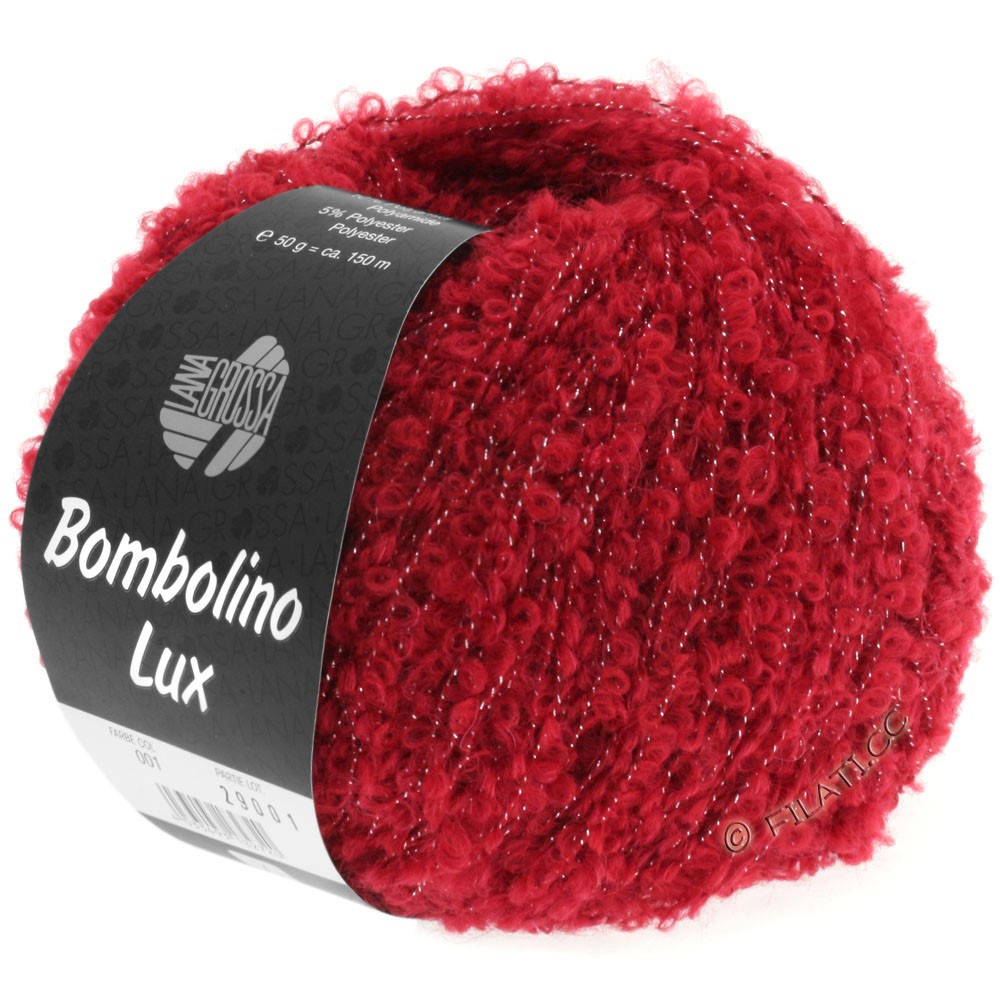 Lana Grossa BOMBOLINO Lux | 001-red/silver