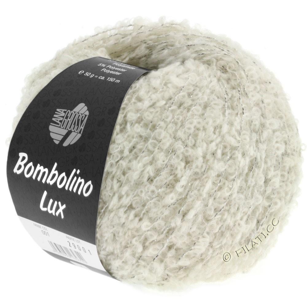 Lana Grossa BOMBOLINO Lux | 006-raw white/silver