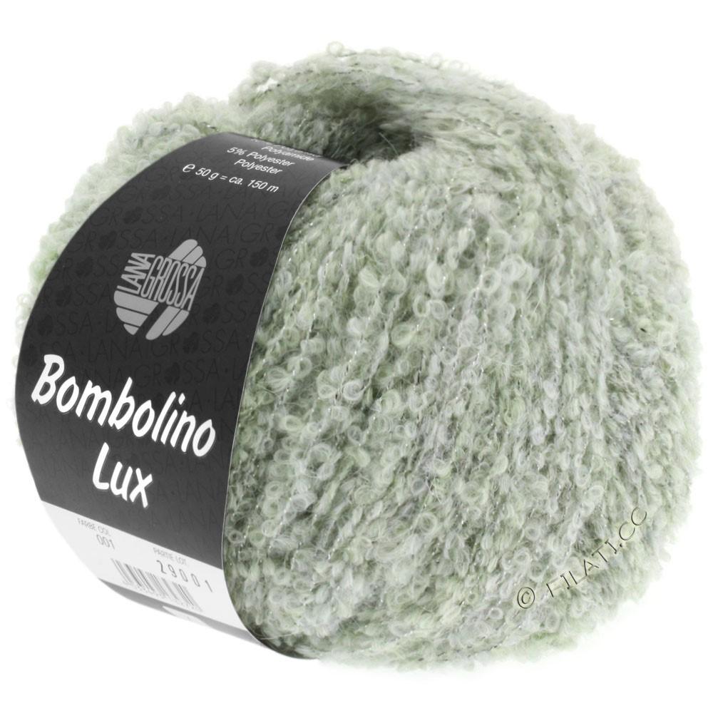Lana Grossa BOMBOLINO Lux | 007-subtle green/silver