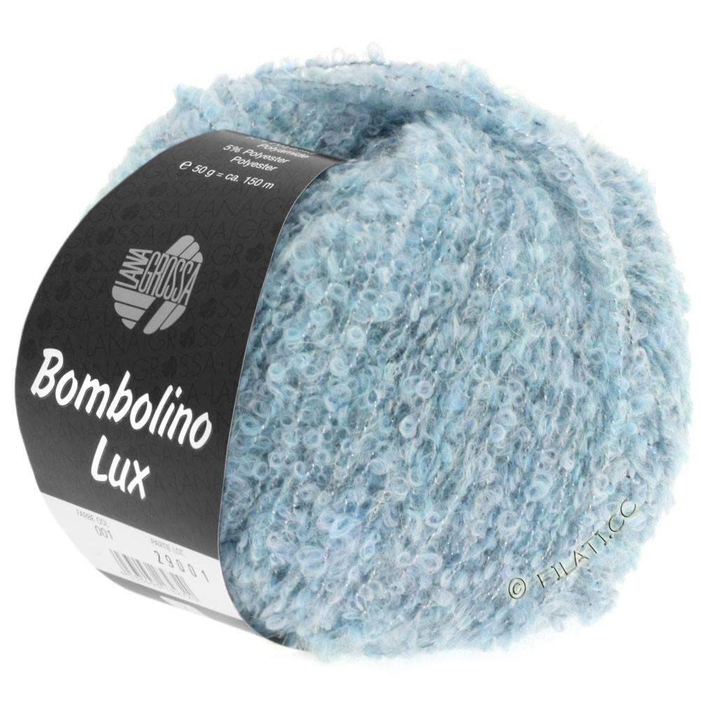 Lana Grossa BOMBOLINO Lux | 008-light blue/silver