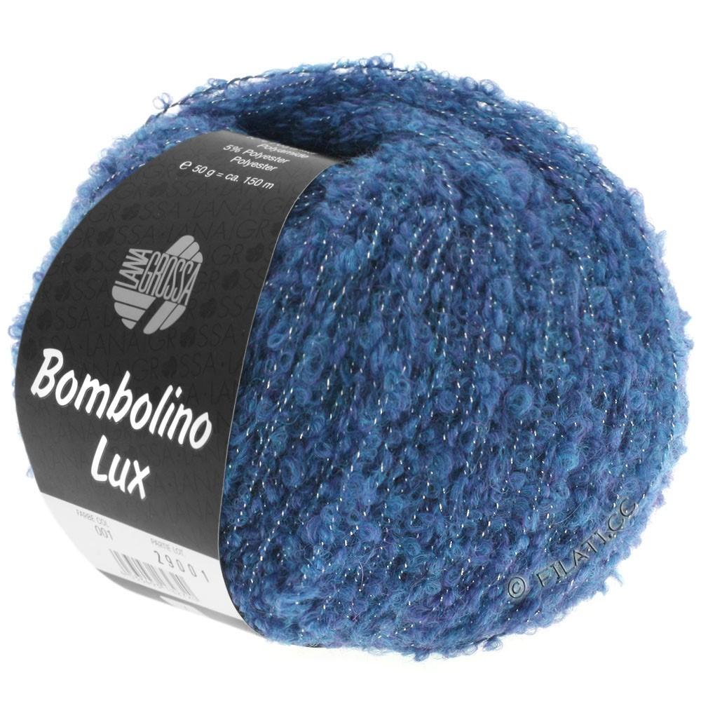 Lana Grossa BOMBOLINO Lux | 009-blue/silver