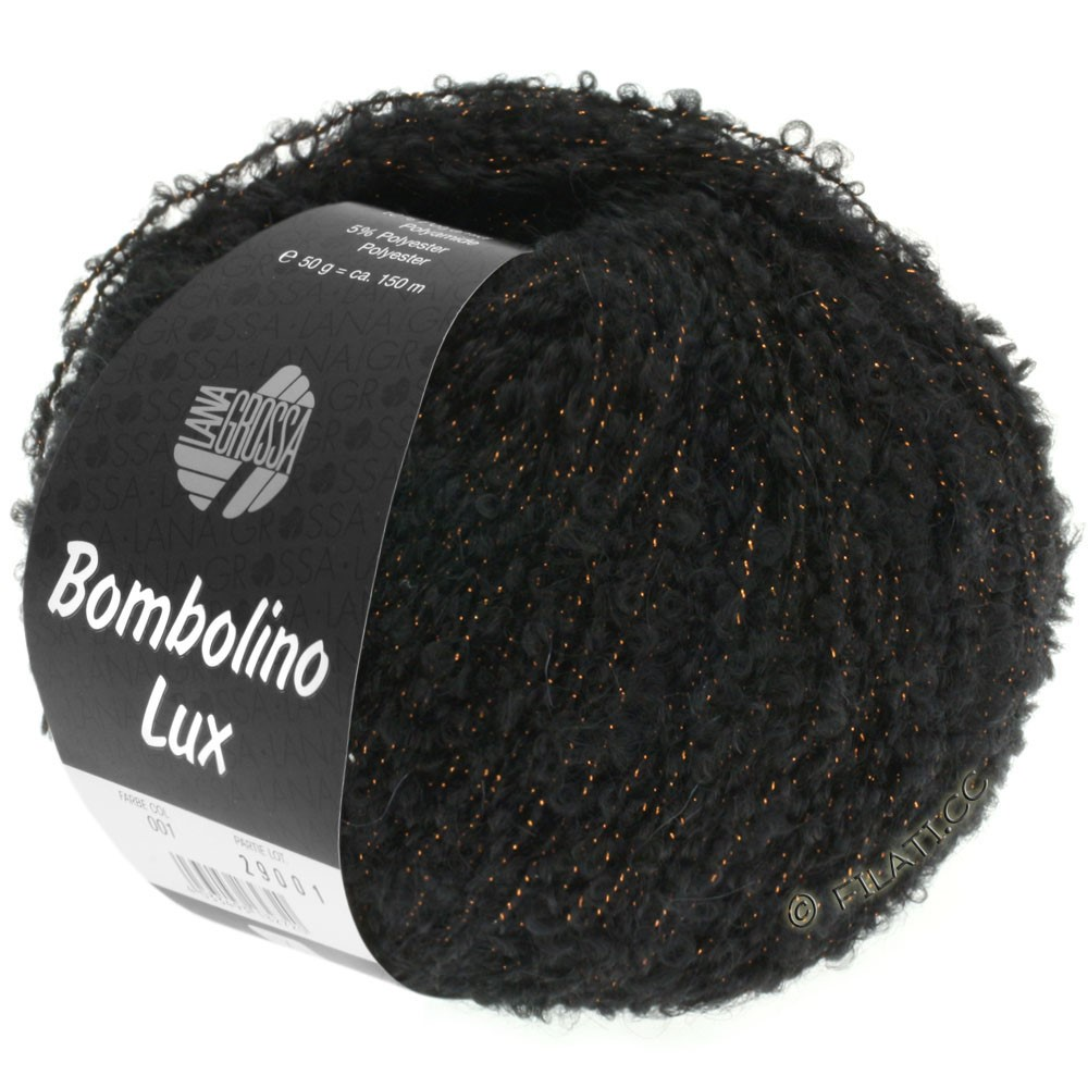 Lana Grossa BOMBOLINO Lux | 013-black/copper