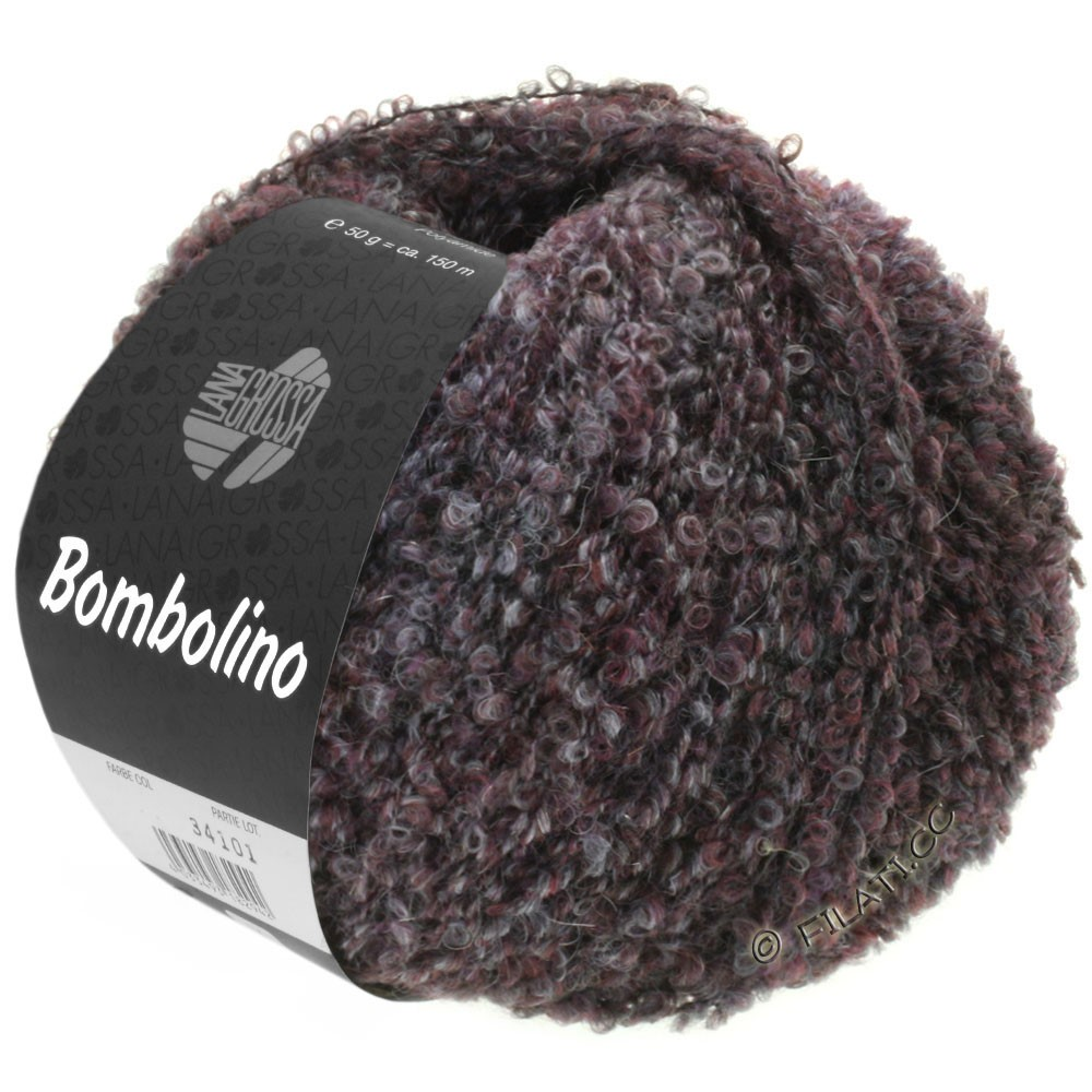 Lana Grossa BOMBOLINO Degradé | 106-gray/anthracite/burgundy