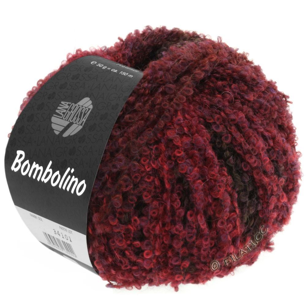 Lana Grossa BOMBOLINO Degradè | 108-red/violet/brown red