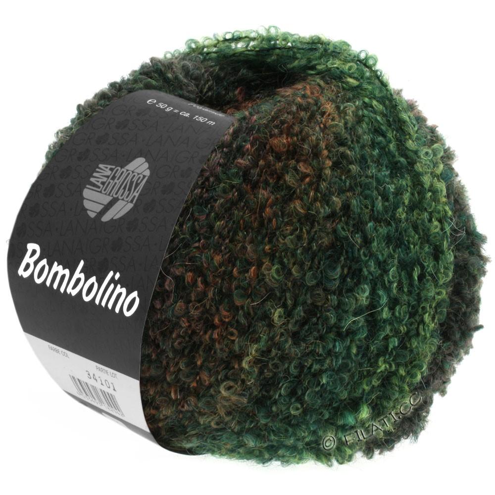 Lana Grossa BOMBOLINO Degradé | 109-green/fir/red brown
