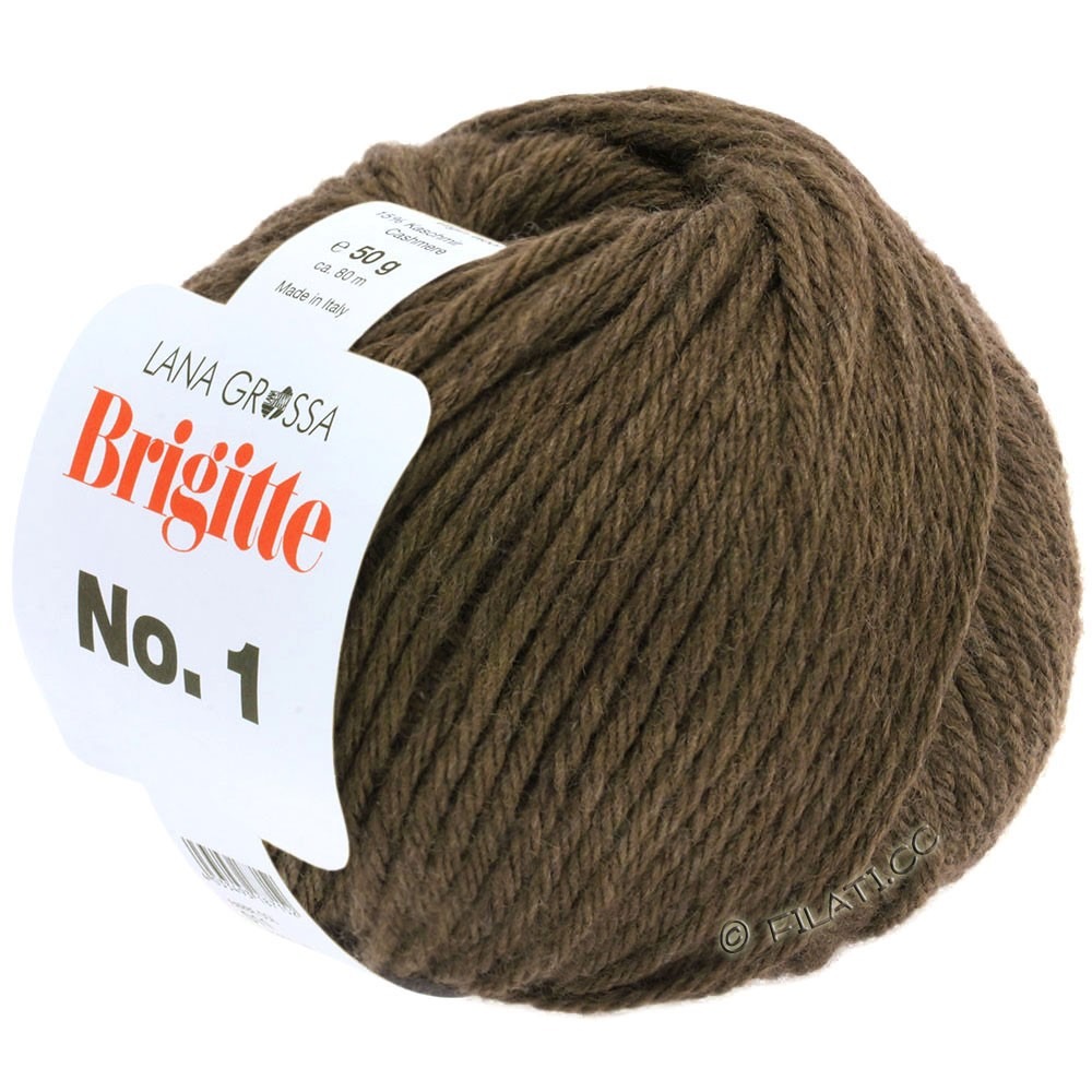 Lana Grossa BRIGITTE NO. 1 | 17-dark brown