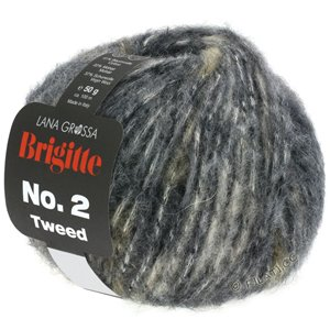 Lana Grossa BRIGITTE NO. 2 Tweed | 102-light gray/gray brown/anthracite