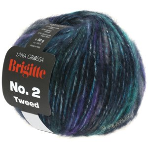 Lana Grossa BRIGITTE NO. 2 Tweed | 105-navy/turquoise/purple