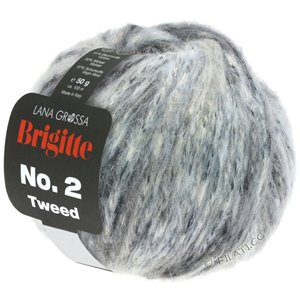 Lana Grossa BRIGITTE NO. 2 Tweed | 109-silver gray/light gray/gray/anthracite