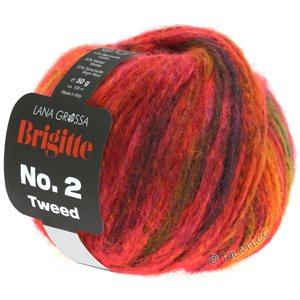 Lana Grossa BRIGITTE NO. 2 Tweed | 110-red/copper/orange