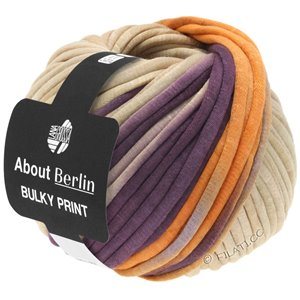 Lana Grossa BULKY Print (ABOUT BERLIN) | 102-purple/beige/apricot/antique violet