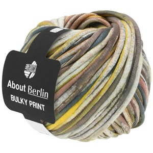 Lana Grossa BULKY Print (ABOUT BERLIN) | 151-white/yellow/gray/tulipwood