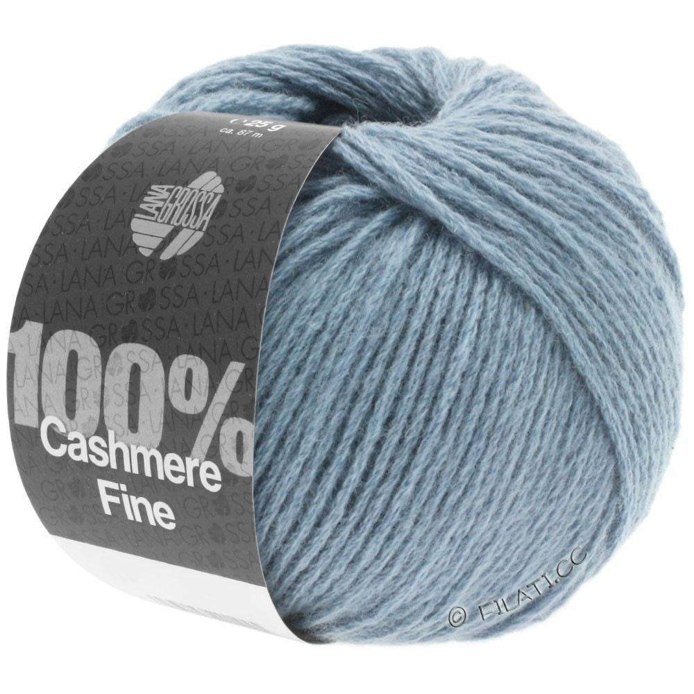 Lana Grossa 100% Cashmere Fine | 13-smoke blue