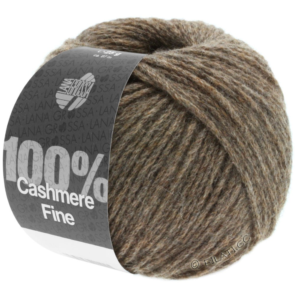 Lana Grossa 100% Cashmere Fine | 14-gray brown