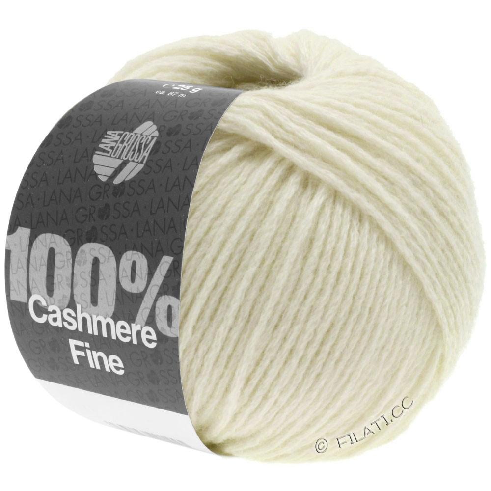 Lana Grossa 100% Cashmere Fine | 16-raw white