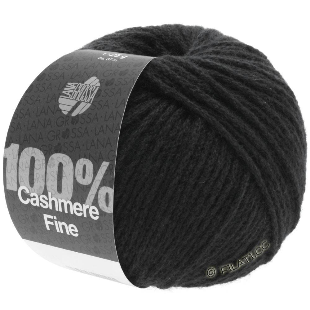 Lana Grossa 100% Cashmere Fine | 17-black