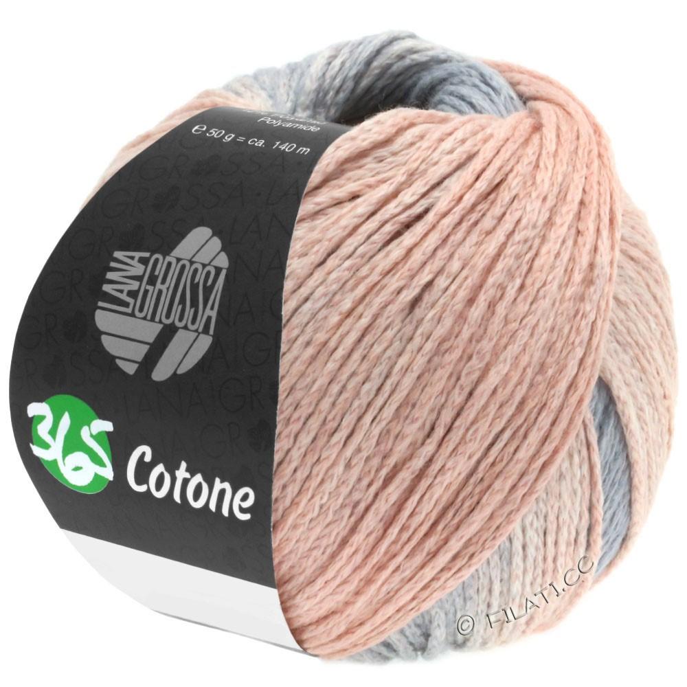 Lana Grossa 365 COTONE Degradé | 102-light gray/gray/peach/clay red