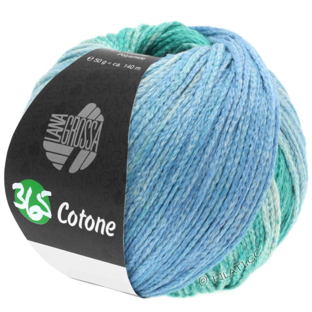 Lana Grossa 365 COTONE Degradé | 104-light opal green/dark opal green/blue gray/petrol gray