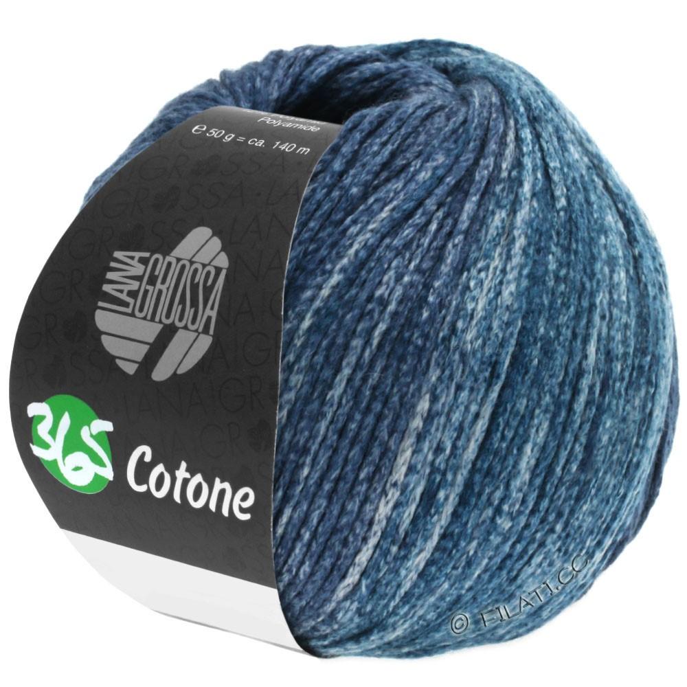 Lana Grossa 365 COTONE Degradé | 106-gray/blue gray/petrol gray/black blue