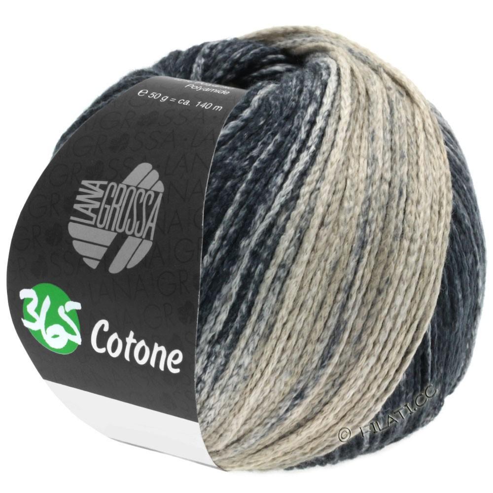 Lana Grossa 365 COTONE Degradé | 107-grège/beige gray/anthracite/black