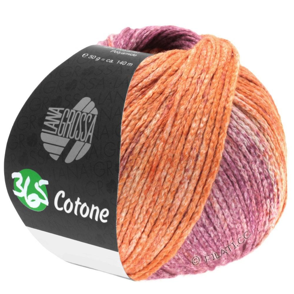Lana Grossa 365 COTONE Degradé | 108-peach/terra/purple
