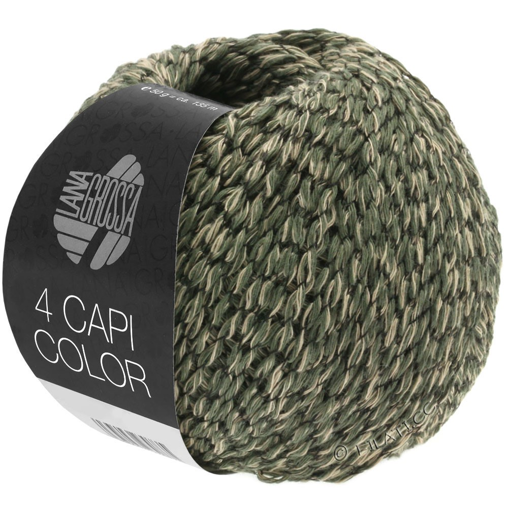 Lana Grossa 4 CAPI Color | 103-sand/hunter green