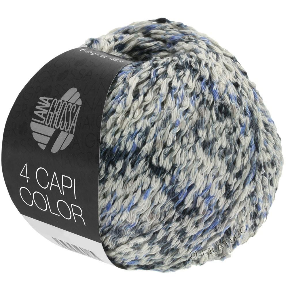 Lana Grossa 4 CAPI Color | 107-natural/jeans/dark blue/gray
