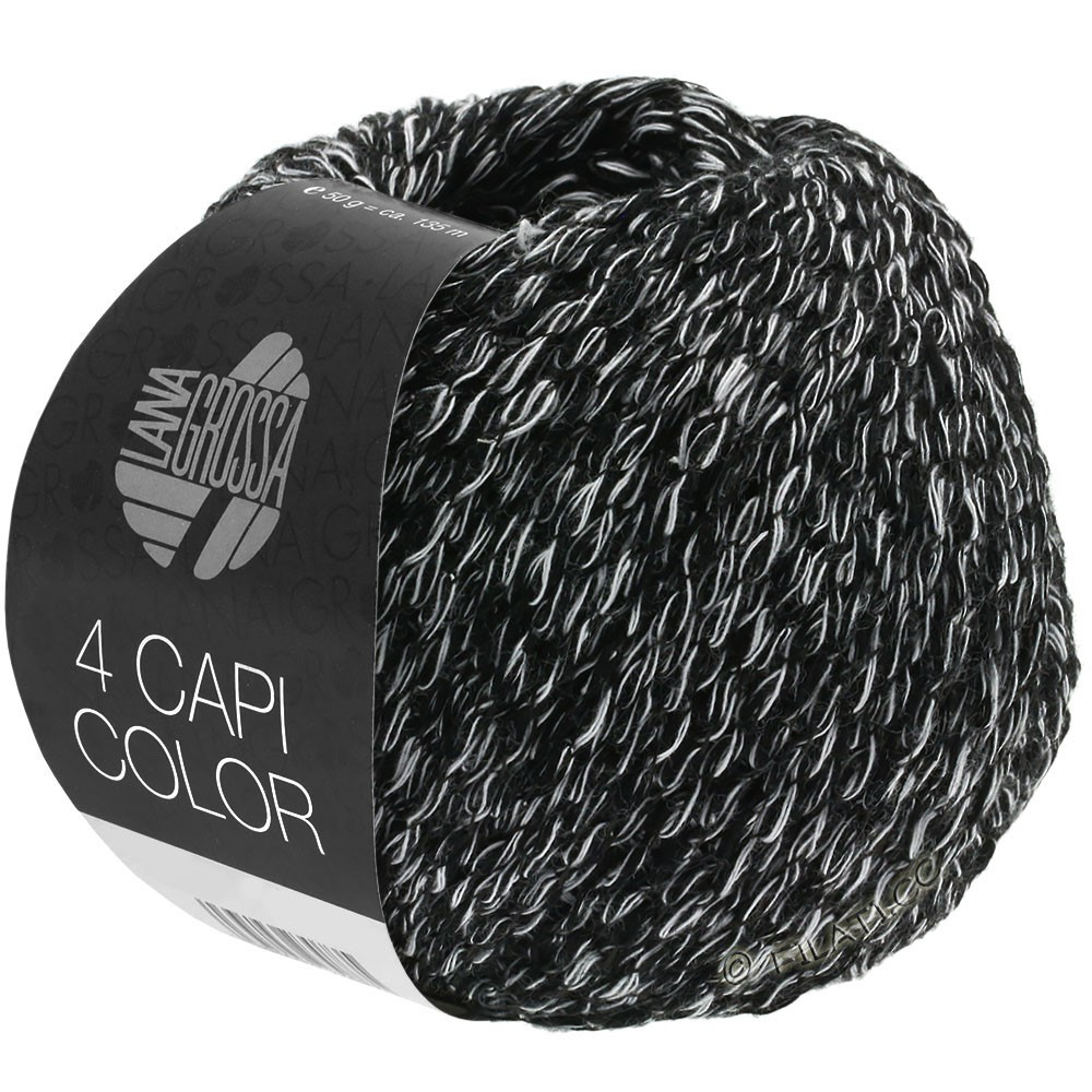 Lana Grossa 4 CAPI Color | 108-black/white