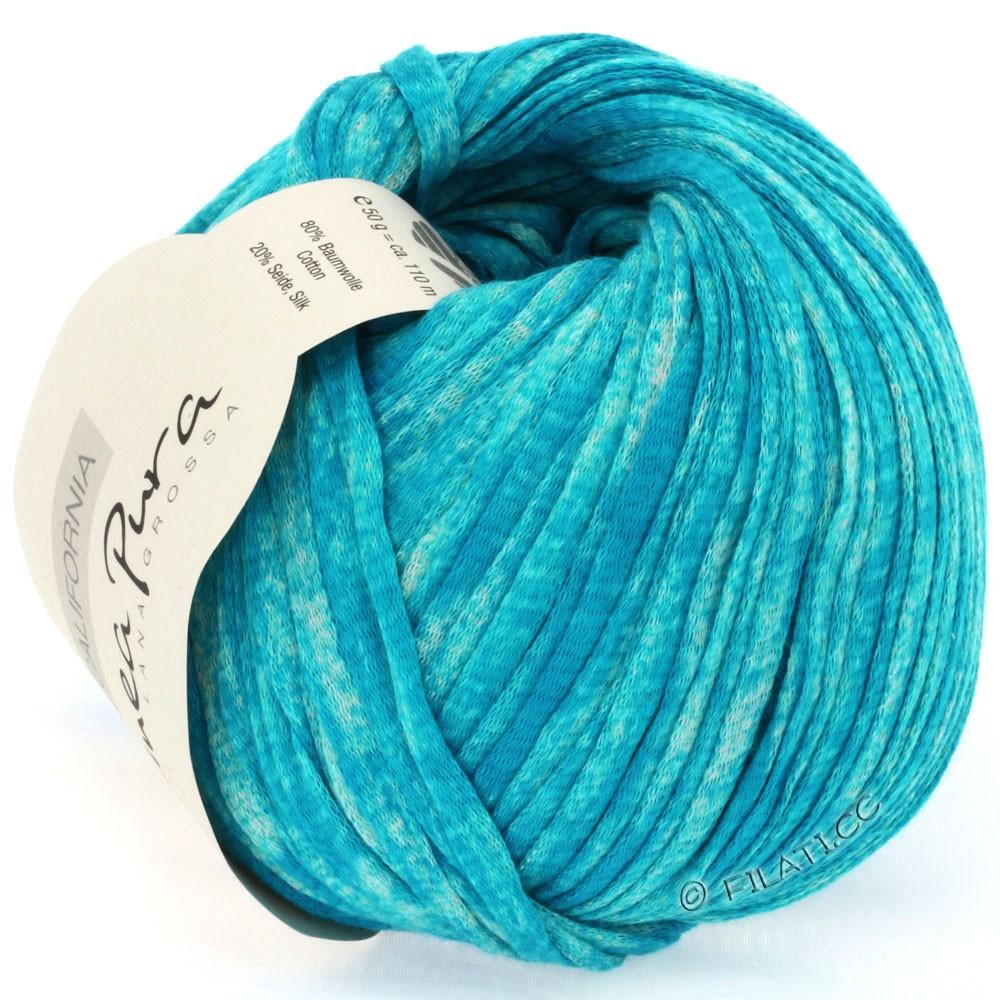 Lana Grossa CALIFORNIA Uni/Print (Linea Pura) | 206-turquoise mottled