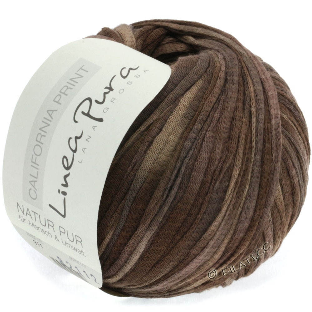 Lana Grossa CALIFORNIA Uni/Print (Linea Pura) | 311-gray brown/mocha