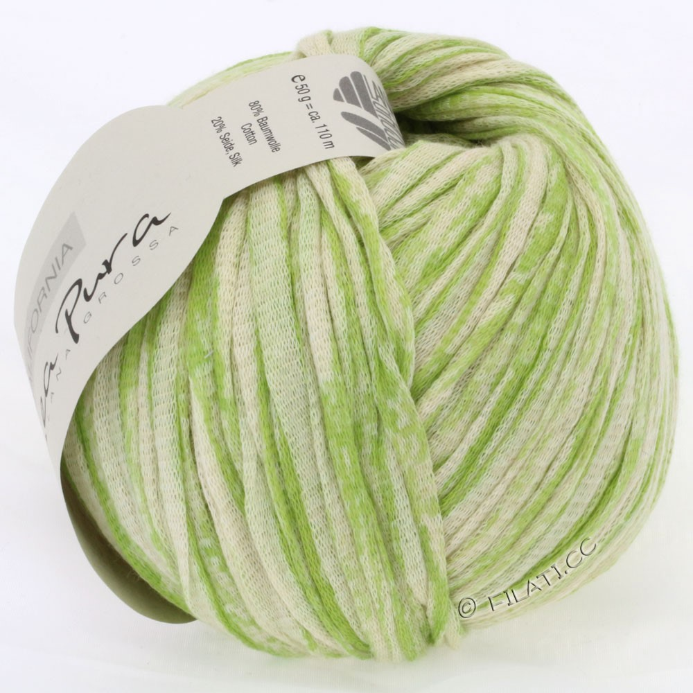 Lana Grossa CALIFORNIA Uni/Print (Linea Pura) | 401-light green/nature
