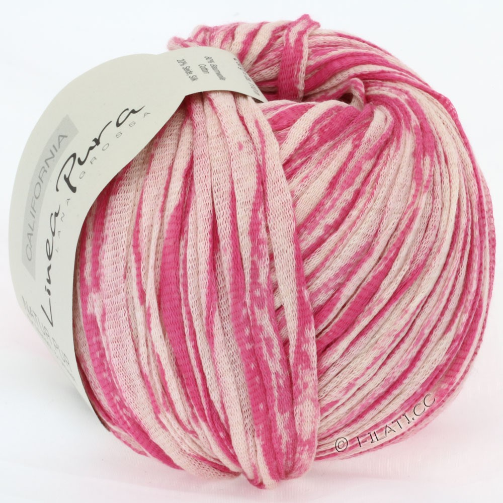 Lana Grossa CALIFORNIA Uni/Print (Linea Pura) | 402-pink/natural