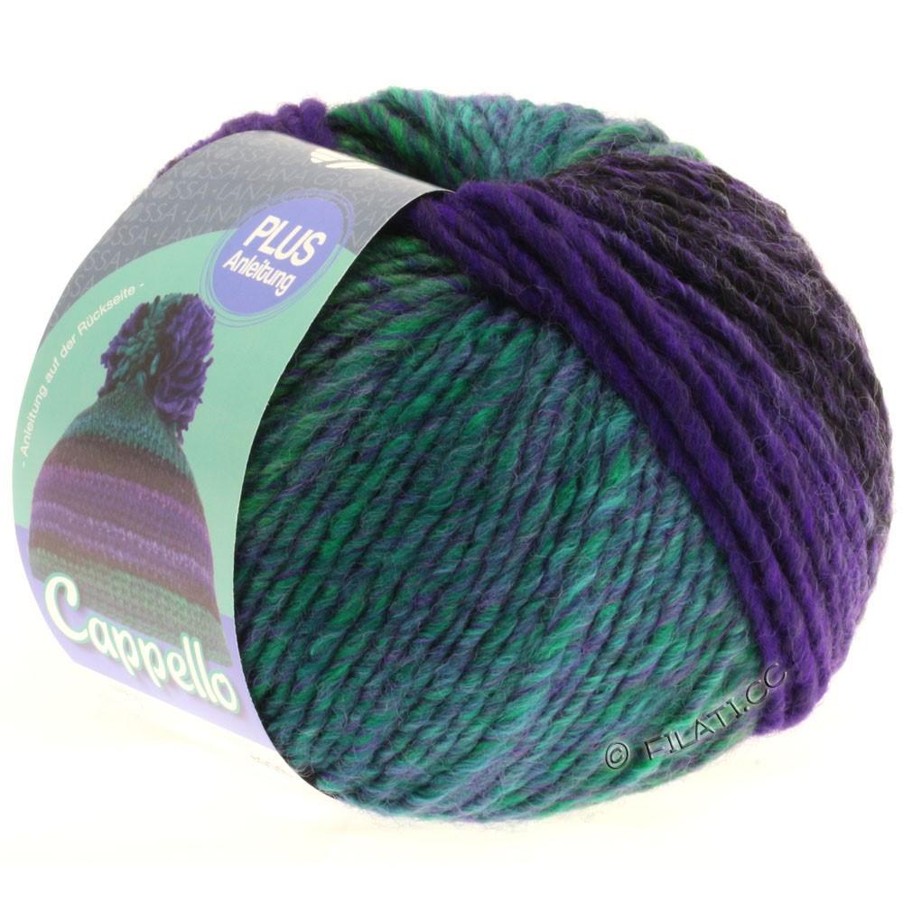 Lana Grossa CAPPELLO | 004-violet/emerald/aubergine/black
