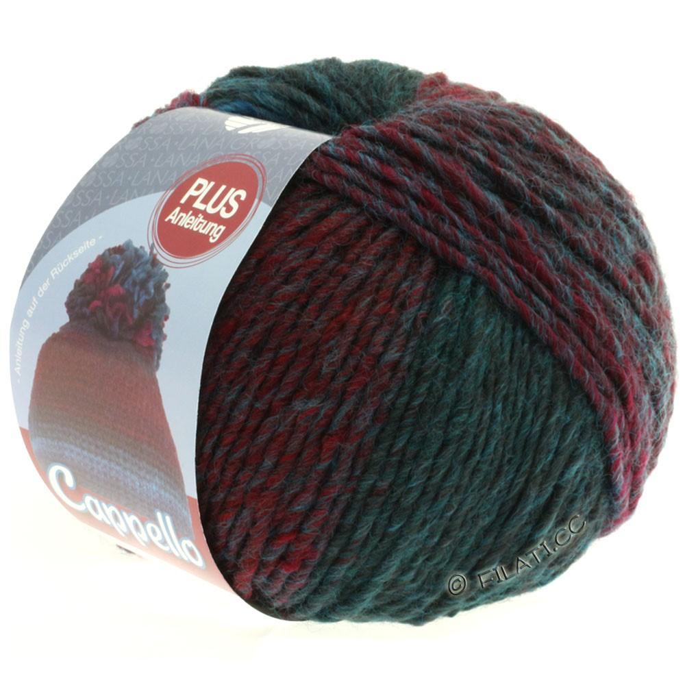 Lana Grossa CAPPELLO | 005-turquoise/dark petrol/burgundy