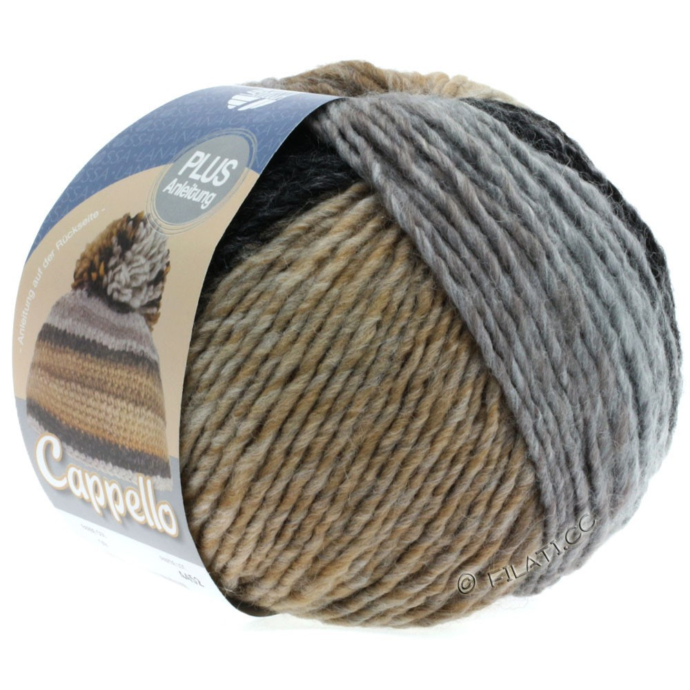 Lana Grossa CAPPELLO | 009-gray/anthracite/grège/camel